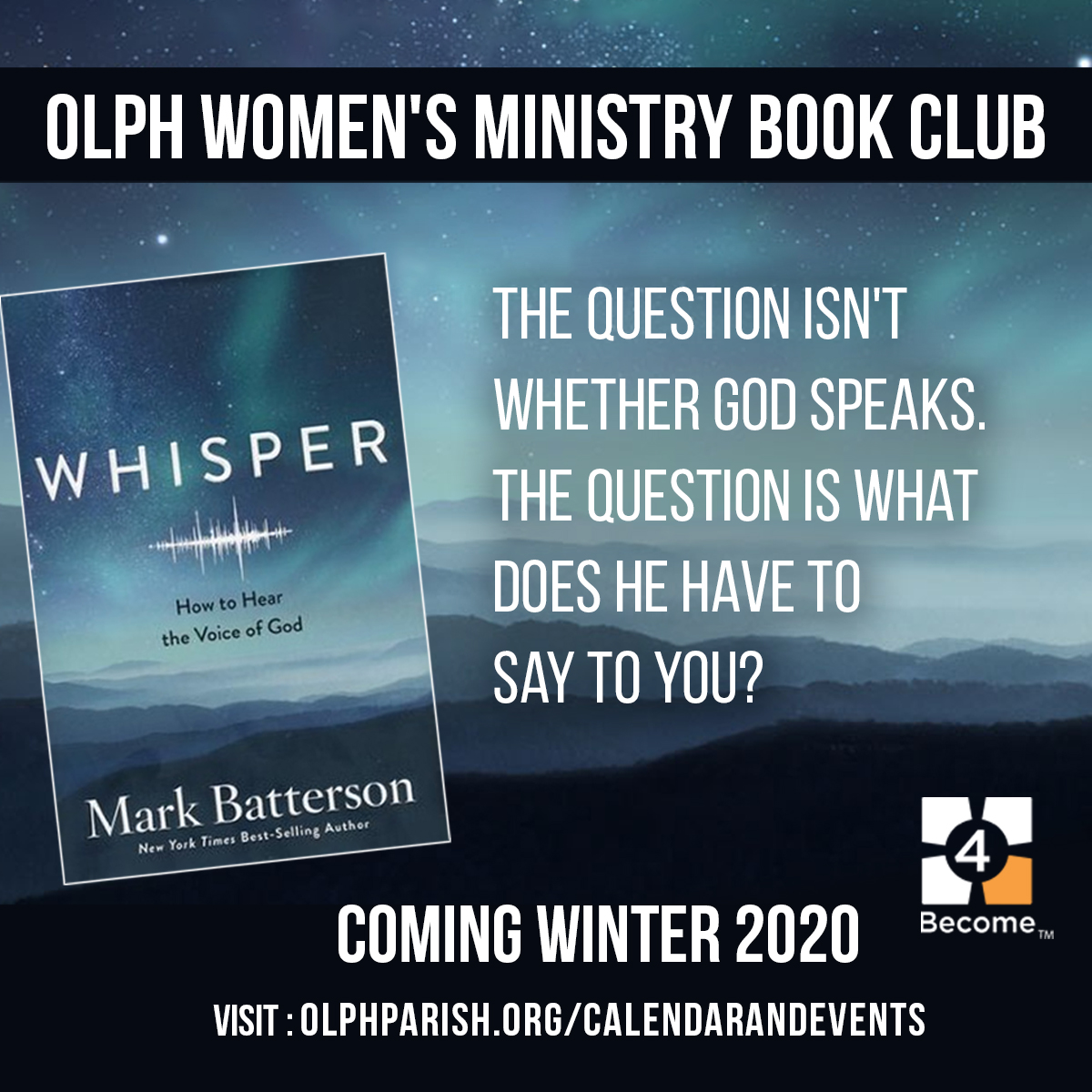 Graphic for OLPH Women's Ministry Book Club