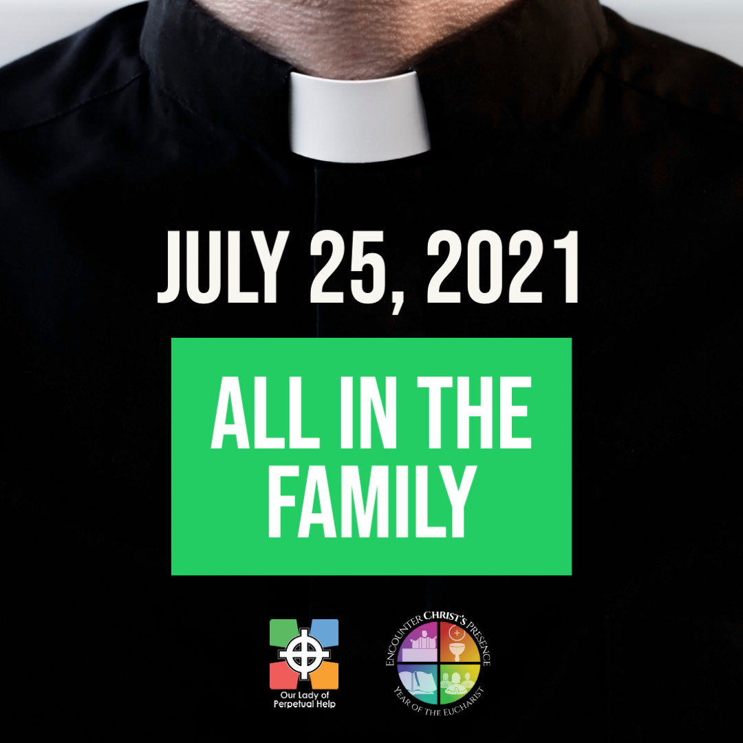 Graphic advertising Father Mike Triplett's pastoral Letter for July 25, 2021