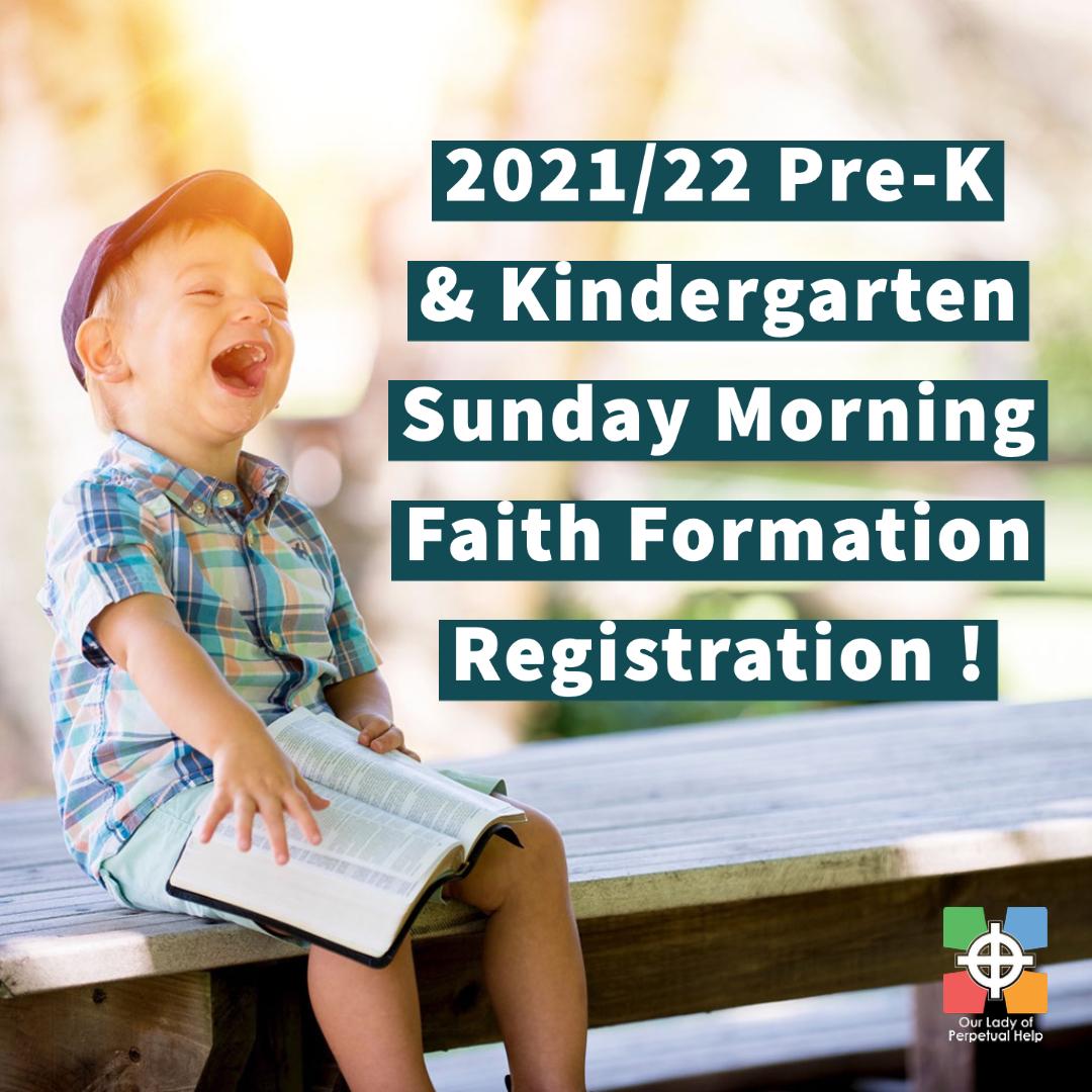 Graphic for OLPH Prek & Kindergarten Snday Morning Program