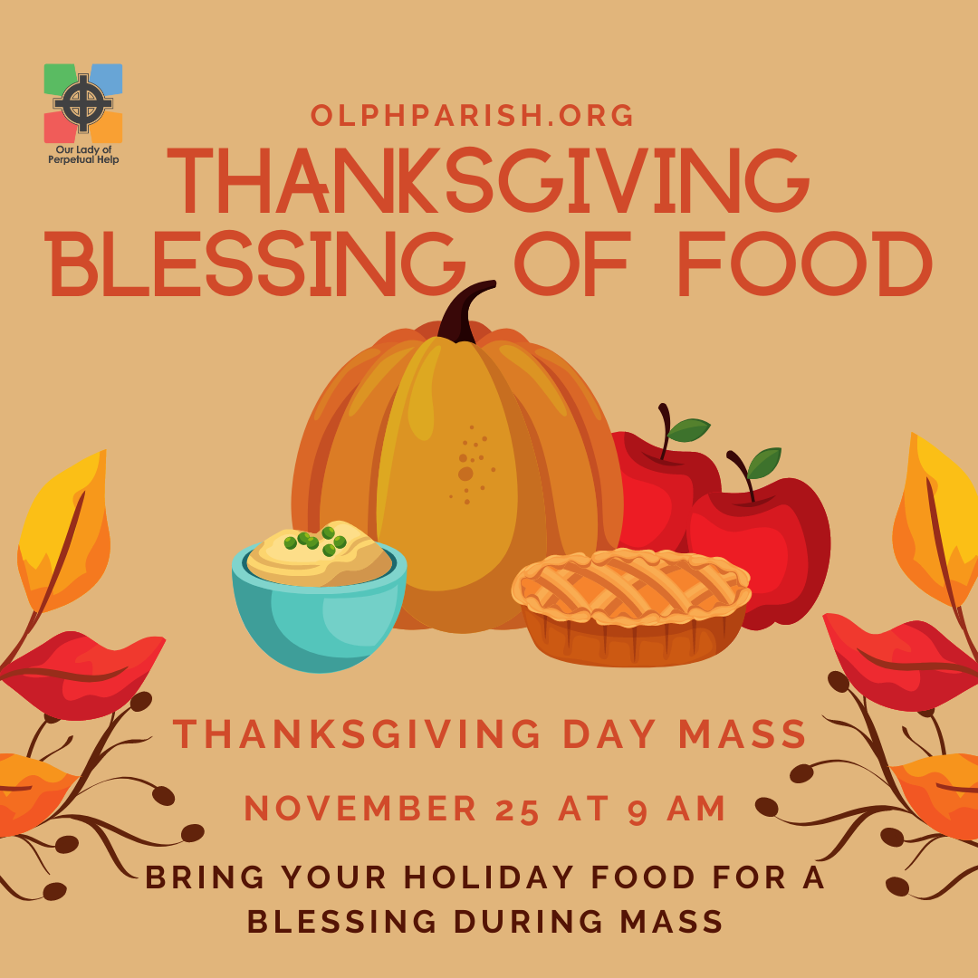 Thanksgiving Blessing of the food graphic