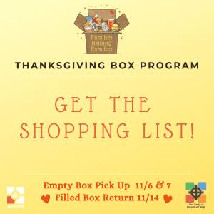 Thanksgiving Box Shopping List Graphic
