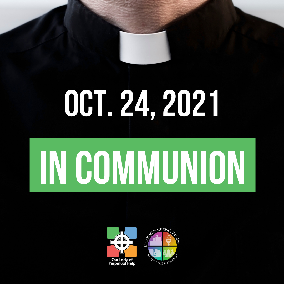 Graphic for Father Mike's letter October 24, 2021